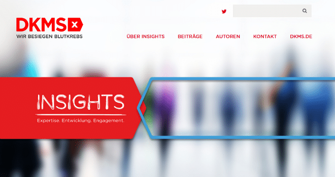 Projekt: DKMS Insights - der Corporate Blog