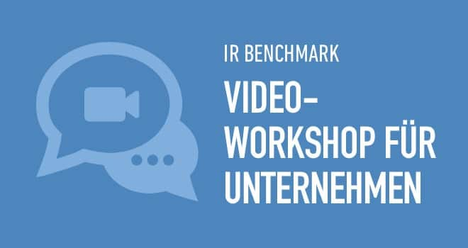 Projekt: Video-Workshop zum IR Benchmark